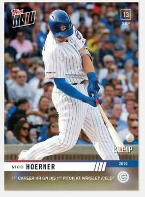 Nico Hoerner 2019 Topps NOW 838 Call Up RC Chicago Cubs 1st Career HR Wrigley