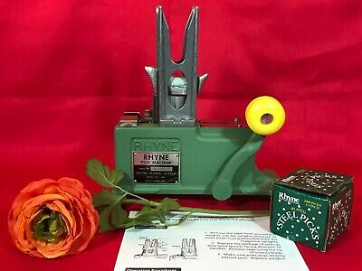 RHYNE Pick Stemming Machine - Flowers - Wreath Making - Crafts MINT CONDITION