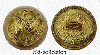 Button Officer Artillery Coloniale. France, to the 1900. 0 25/32in 1/2 Jingle