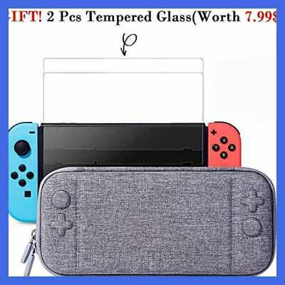 Nintendo Switch Slim Case & 2Pack Tempered Glass Screen Protector Protectiv