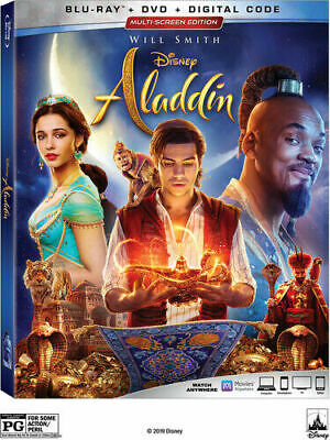 Aladdin (2019) LIVE ACTION BLU RAY ONLY- NO DVD OR DIGITAL - FREE SHIPPING