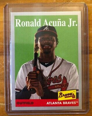 2019 Topps Archives 1958 Ronald Acuna Jr. Silver /99 SP Short Print #100