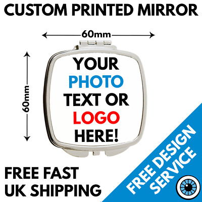 Custom Printed Square Compact Mirror • Personalised • Hen Party Gift Wedding