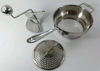 ALL-CLAD USA 18/10 Stainless Steel Heavy Gauge Food Mill Masher Ricer Strainer