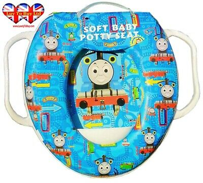 Thomas The Tank Engine Kids Soft Padded Potty Toilet Training Seat With Handle
