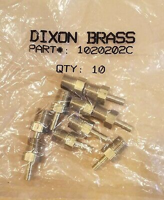 """NEW 10 pc 1/8"""" Hose Barb to 1/8"""" Male NPT Brass Air Gas Fluids"""