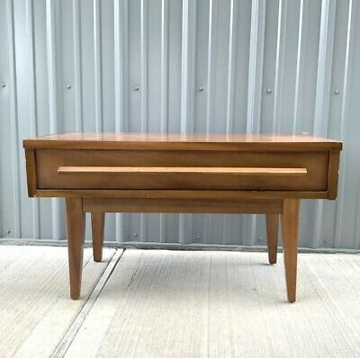 Mid Century Modern Dixie Nightstand Side End Table Low Retro Highboy Mcm Vintage