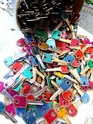 GM Vintage USA Made Uncut Lot of 100 Key Blanks   Various Colors  Art, Craft...