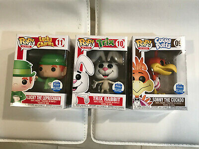 Funko POP! AD ICONS General Mills TRIX, SONNY, LUCKY Funko Shop Exclusive 3 PSC.