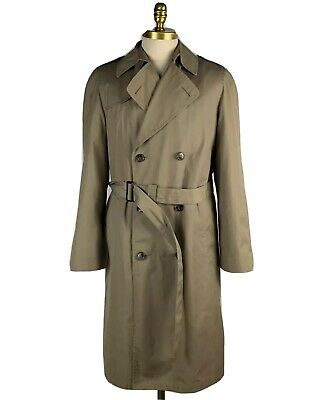 Kuppenheimer Overcoat - Double Breasted Tan Belted Long Trench Mens Coat M 38L