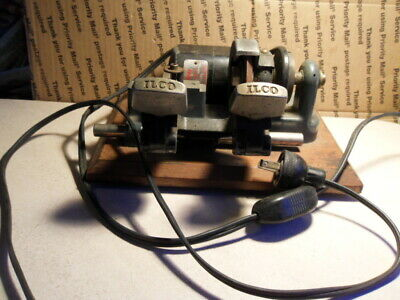 Vintage ILCO Manual Key Cutter Cutting Machine. Works Good Condition!