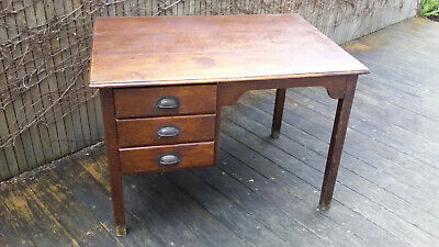 Antique vintage blackwood desk with 3 drawers