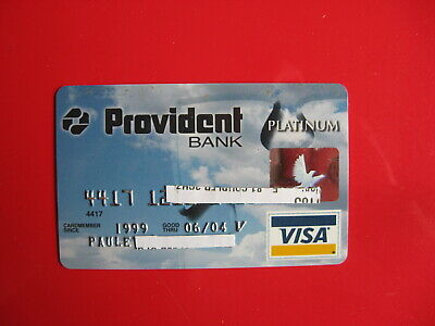 Vintage Old Credit Card: Provident Bank Platinum Visa