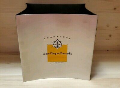 New And Rare Veuve Clicquot Ponsardin Stainless Steel Ice Bucket-France