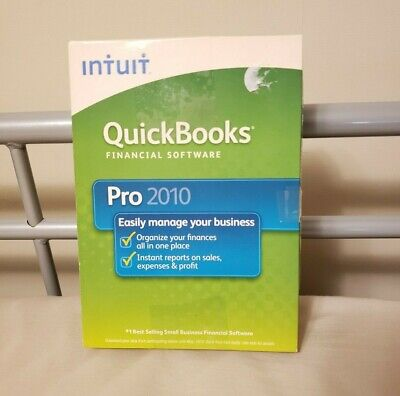 Intuit Quickbooks Pro 2010 Financial Software for Windows