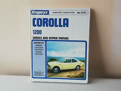 Toyota Corolla 1200 Gregory's Workshop Manual