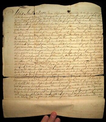1742 MOHAWK INDIANS Deed SCHENECTADY Albany NY AMERICAN Handwritten COLONIAL