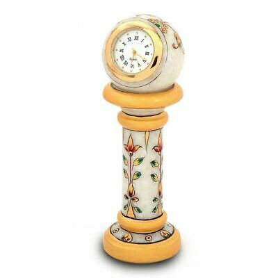 Best Quality Hand Made Marble Table Antique Design Clock For Office And Home