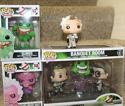 Ghostbusters Funko Pop Lot of 4 Banquet Room figures slimer library ghost