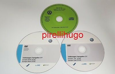 VW RNS510 West v16 2019 + East v16 2019 Europe Volkswagen RNS 510 + SW 5238