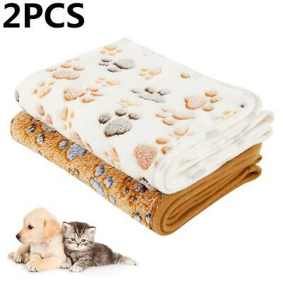 2x Warm Pet Mat Small Large Paw Print Cat Dog Puppy Soft Blanket Bed Cushion AU