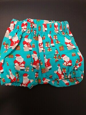 Baby Boy Handmade Christmas Bloomers/nappy Cover Size 000,00,0