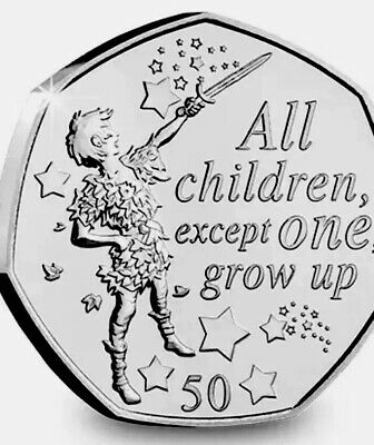 Isle Of Man Coin 50p 2019 Commemorative Peter Pan All Children UNC From Bag
