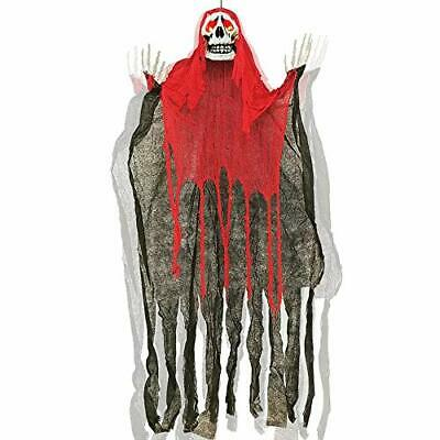 ATDAWN 5.6 Ft Hanging Screaming Ghost Decoration, Halloween Skeleton Grim Reaper