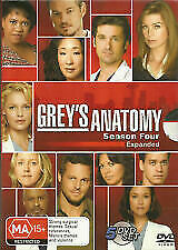 GREY'S ANATOMY The Complete Season Four 4 Expanded (5 Disc DVD) - Region 4