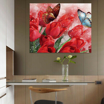 Unframed Modern Flowers Art Canvas Oil Painting Picture Print Home Wall Decor