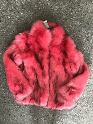 Lovely Girl Winter Fluffy Faux Fur Coat Jacket NEXT 13-14 years quirky emo pink