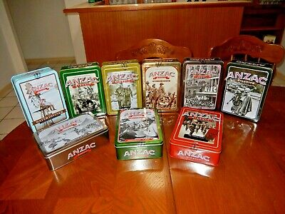 (9) Collectable Anzac Biscuit Tins - Unopened