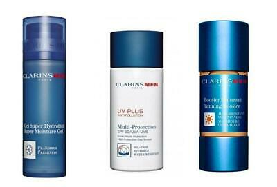 Clarins Men Super Moisture Gel, Multi Protection and Tanning Booster