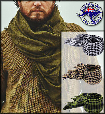 TACTICAL SCARF Shemagh Mens Womens Survival Airsoft Palestinian Neck Heat Warm