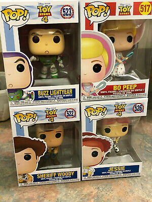 "Funko Pop Disney Vinyl Lot Of (4) "" Toy Story"" Figurines New In Boxes Look!"