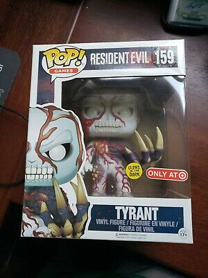 Funko Pop Tyrant GITD Target Exclusive Resident Evil Games 159