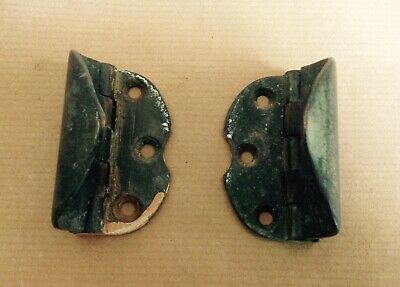 A Pair Of Unusual Antique Brass Hinges With Cover. ??