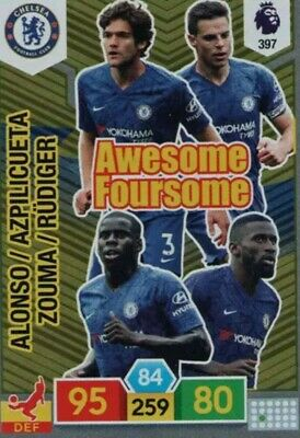 Panini Adrenalyn Premier League XL 2019/20 Chelsea Awesome Foursome Card #397