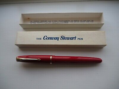 Vintage Conway red 150 fountain pen in box
