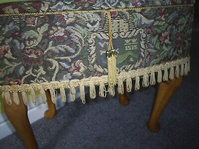 Vintage Sewing Box/Table Retro 1970s Tapestry Design