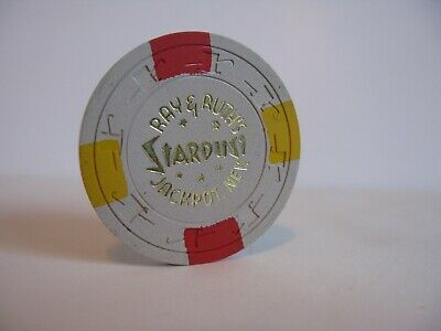 """$5 Casino Chip  Ray & Ruth's Stardust Casino   Jackpot, NV.  1961-62  Rated  """"R"""""""