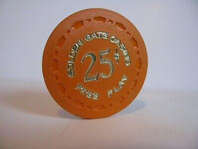 """25 cent Golden Gate Casino Chip  Las Vegas, NV.    Rated """"S"""""""