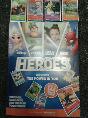 Sainsburys disney heroes cards Up to 15 cards for £2.50 **LAST FEW CARDS**