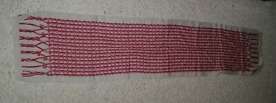 """Paco Rabanne Paris Scarf Red Gray About 11"""" x 53"""""""