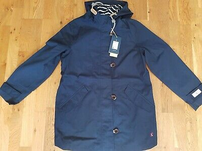 Joules Womens Coast Mid Length Waterproof Jacket in FRENCH NAVY Size 12