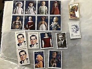 Lot of Collectible different US Postage Stamps, Vintage Read Below