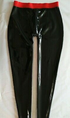 Pure Latex Rubber Dunkelblaue Herrenhose With Zipper 0.4mm Size S-XXL