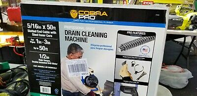 """Cobra Pro CP2040 5/16"""" x 50ft Drain Cleaning Machine for 1"""" - 3"""" Pipes used"""