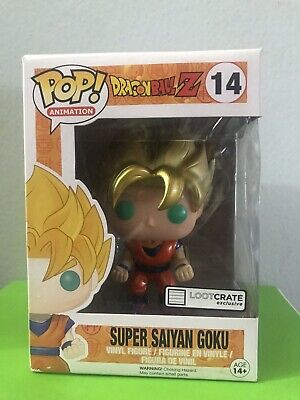 Funko Pop! Dragon Ball Z Super Saiyan Goku #14 (Metallic) Loot crate Exclusive