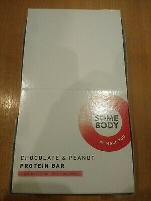 12 SOME BODY Protein Bars 56g CHOCOLATE PEANUT Low Sugar - New Boexed BBE 30/09